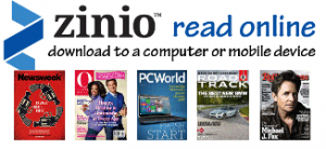Zinio Free Magazines with your Library Card.
