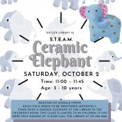 Paint a Ceramic Elephant
